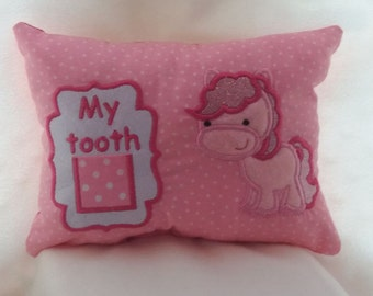 girls personalized Tooth fairy pillow