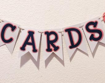 Mini Card Banner; Cards banner; Card box; Wedding; Wedding decor