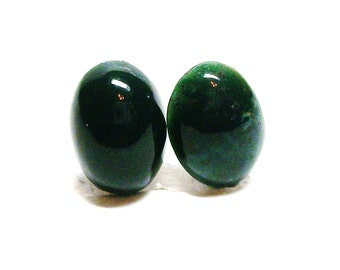 "Blood stone, blood stone cabs, cabochon, matching cabs, green,  jewelry supplies,  jewelry making, ""Green eyed lady"""