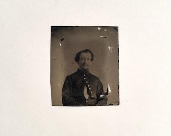 Civil War Tintype Union Calvary Soldier, Ca: 1860s.