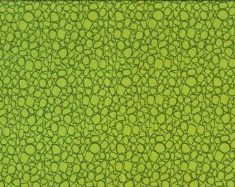 Tissu coton patchwork graphique deux tons de verts