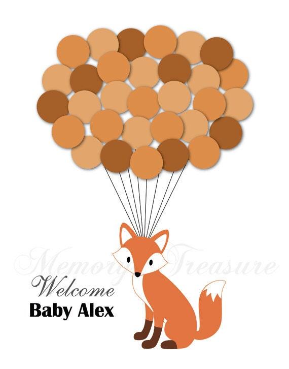 Baby Shower Guest Book Alternative Fox Baby Shower Birthday