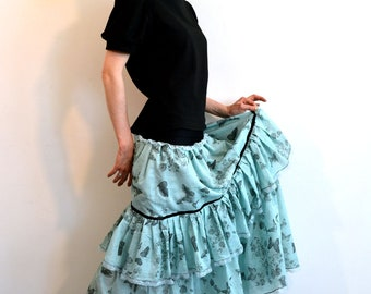 long skirt with butterfly