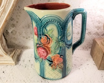 Frie Onnaing limoges floral pitcher