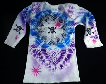 """New Born Airbrushed Skull Lace T-Shirt-""""SALE"""""""