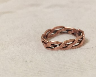 Forged Braided Copper Ring