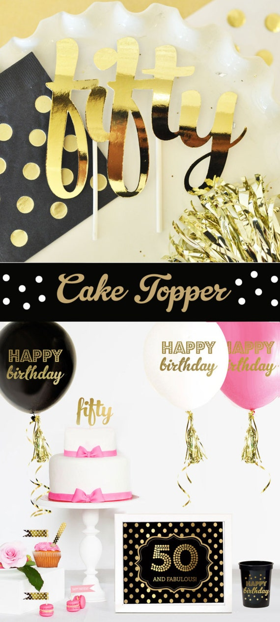 50 cake topper 50th birthday cake topper 50th birthday for 50th birthday decoration packages