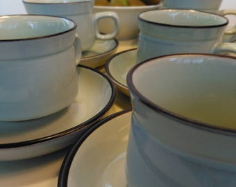 Set of Vintage Denby Stoneware Tea / Coffee Set for 5