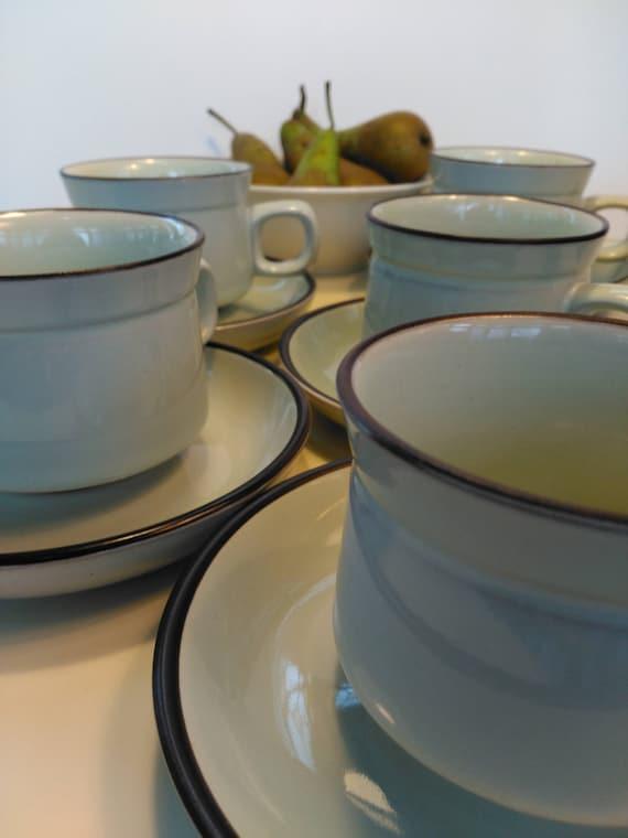 & Set of Vintage Denby Stoneware Tea / Coffee Set for 5