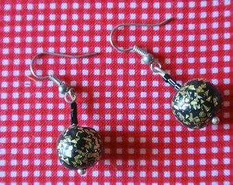 gold ball earrings
