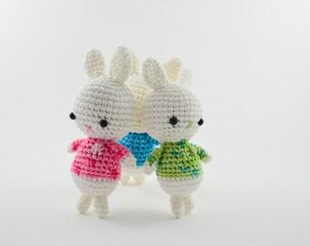 Funny bunny rabbit, amigurumi bunny, handmade bunny toy,birthday gift, gift for a girl, cute small bunny, soft bunny toy, stuffed bunny
