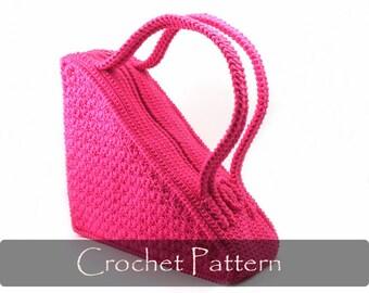 CROCHET PATTERN - Crochet Pattern Unique Bag Pattern Unusual Purse Pattern Triangle Bag Crochet Pattern PDF - P0001