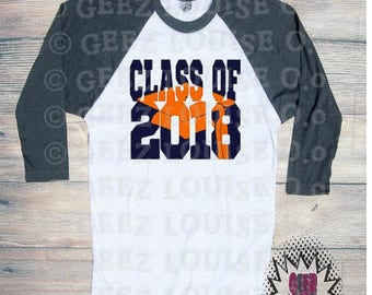 Class of 2018 Graduation T-shirt Adult Raglan Baseball Tee  Vinyl Unisex Cotton Customized Diploma Graduate Senior 18