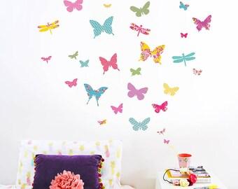 Shanghai-Schmetterling-Wand-Sticker (Stoff Abziehbilder, nicht Vinyl)