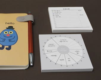 Simple Scheduler!! / Timetable type & To do list Memo pad type / Compact size!! Simple design / D-08 / 1633383