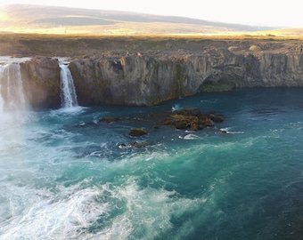 Blue water at Godafoss, Iceland - Download