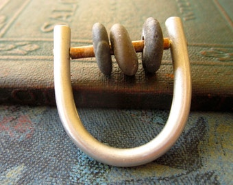Abacus Ring with River Rocks