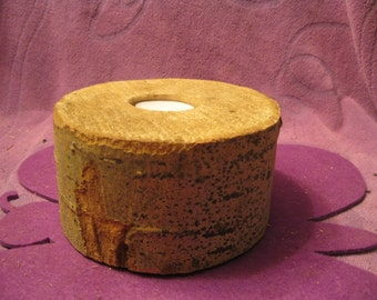BIRCH Rustic Wooden  CANDLE Holder
