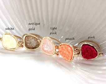 SALE ~ Druzy ring 14kt gold filled - custom size - pick your color