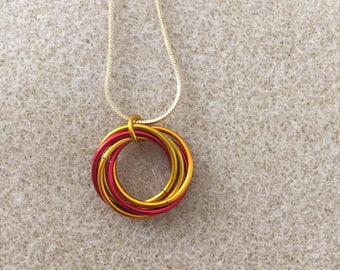 Fire Mobius Necklace