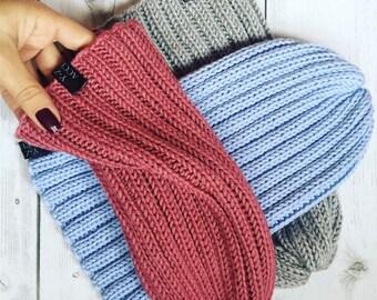 Knit beanie hat Y-Z KNITS