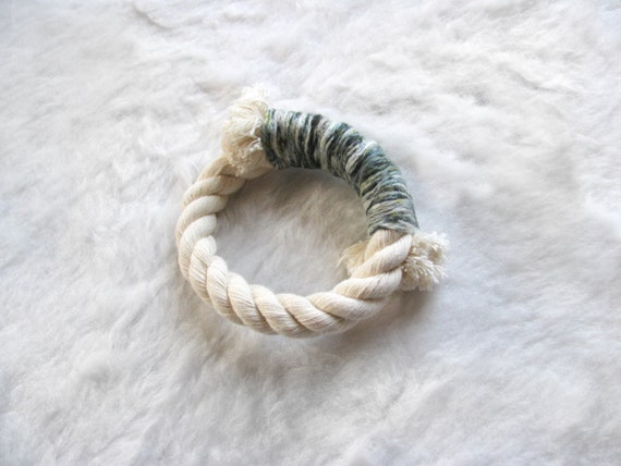 Wrapped Rope Bracelet, 'Forest Confetti'