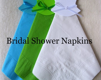 Bridal Shower Wedding Dress Bridal Shower Napkins Bridal Shower Decorations Bridal Shower Favors Wedding Napkins Mr.& Mrs. Napkins Wedding