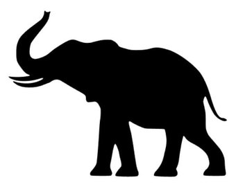 ELEPHANT Vinyl Decal Sticker Africa Zoo Choose Color FREE Shipping