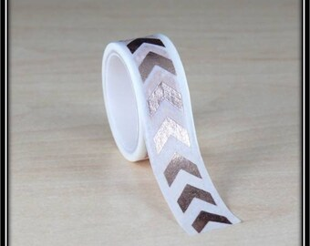 masking tape arrows with foil copper on a white 15mm x 3 m