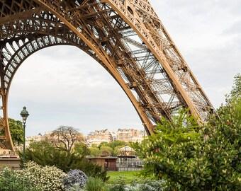 Parijs Eiffeltoren foto Eiffeltoren Arch-horizontaal, grote Wall Art, Franse keuken Decor, Fine Art reizen foto