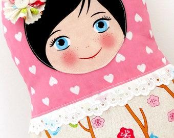 "Babushka matryoshka softie plush doll pillow gift, Medium, 38cm/15"" tall, cute style"