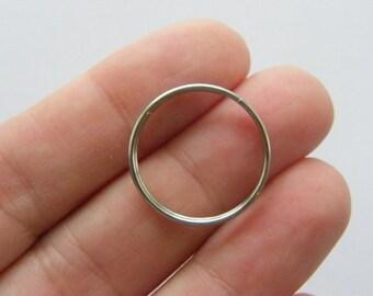 30 Split rings 20mm 304 stainless steel FS390