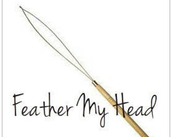 Feather Extension Hair Loop / Threader For Installing Mirco Beads