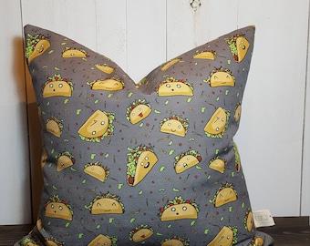 Taco Town, Pillow cover, Taco Pillow, Gift for Her, Decorative Pillows, Throw Pillows, Home Decor, Decorative Pillow Covers Handmade