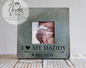 I Love My Daddy Picture Frame, Fathers Day Picture Frame, Personalized Father Frame, Personalized Father's Day Gift