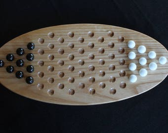 2 Player Chinese Checkers Game Made of Solid Ash