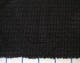 3 Yds Black textured 2-way stretch