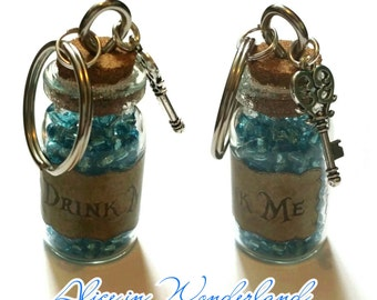 Alice in Wonderland 'Drink Me' Potion Keyrings