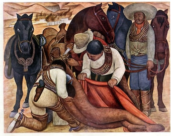Liberation of the Peon by Diego Rivera Home Decor Wall Decor Giclee Art Print Poster A4 A3 A2 Large Print FLAT RATE SHIPPING