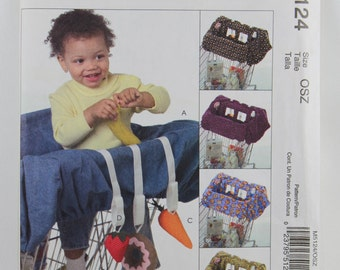 McCall's 5124, Baby's Grocery Cart Liner and Toys Sewing Pattern, Grocery Cart Liner Pattern, Uncut