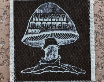 Allman Brothers Band handmade canvas patch