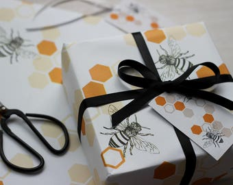 Honey Bee Gift wrap and tags