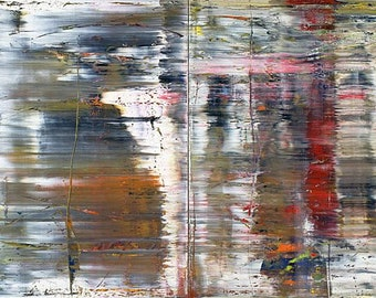 GERHARD RICHTER - 'Abstract Painting (726)' - original archival quality print (Curwen Press, London)