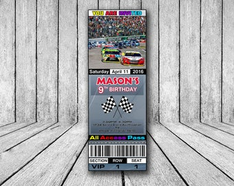 Nascar invitations etsy nascar birthday invitation nascar invite race cars invitations ticket invites nascar theme filmwisefo Choice Image