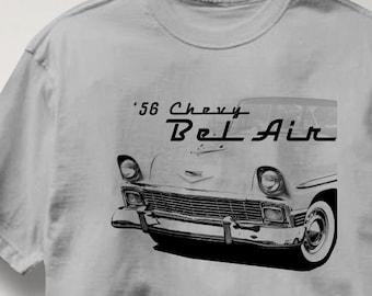 Chevy Bel Air 1956 Classic Chevrolet Car Auto T Shirt Tee Shirt Mens Womens Ladies Youth Kids