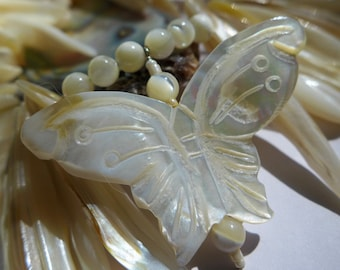 Mother-of-Pearl Handcrafted Butterfly Necklace