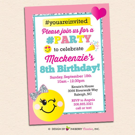 picture about Emoji Invitations Printable referred to as emoji invitation birthday social gathering invitations printables invite