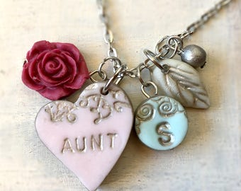Aunt Niece Nephew gift, Personalized Necklace for Aunt, To Aunt from Niece. To Aunt from Nephew, Auntie Gift