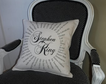 Stephen King Lovers Pillow Cover