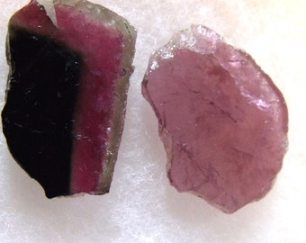 Watermelon and Pink Tourmaline Shard Lot - From Peach Valley, Afghanistan